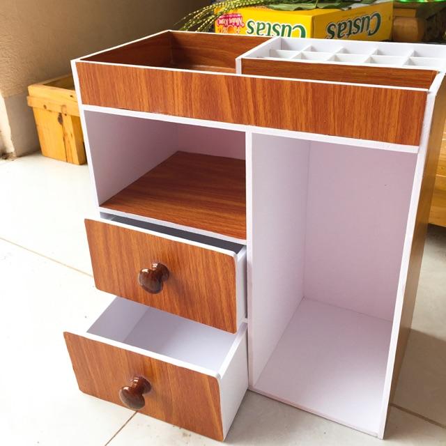 Tủ mini màu gỗ đựng mỹ phẩm đồ dùng học tập. Khay son - 3392340 , 1287265489 , 322_1287265489 , 159000 , Tu-mini-mau-go-dung-my-pham-do-dung-hoc-tap.-Khay-son-322_1287265489 , shopee.vn , Tủ mini màu gỗ đựng mỹ phẩm đồ dùng học tập. Khay son