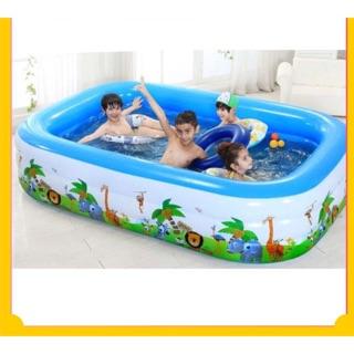 Bể bơi 1m5 2 tầng. Bể bơi phao 1m5 giá rẻ. Bể bơi HCM