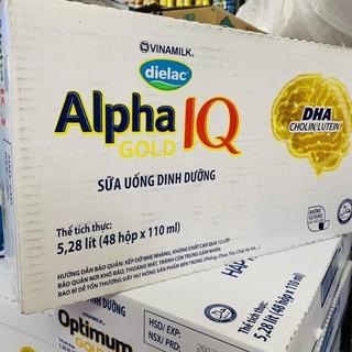 Thùng sữa Alpha IQ Gold Vinamilk 48x110ml