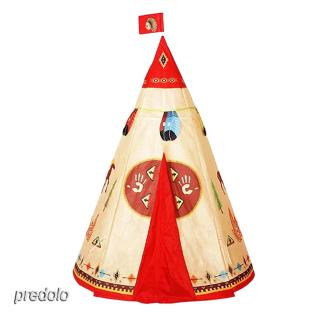 Foldable Cone Shape Indian Play Tent Teepee Tent Kids Indoor Outdoor Tent