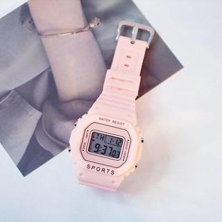 Đồng hồ điện tử nam nữ Sport màu hồng cực hot MS7334