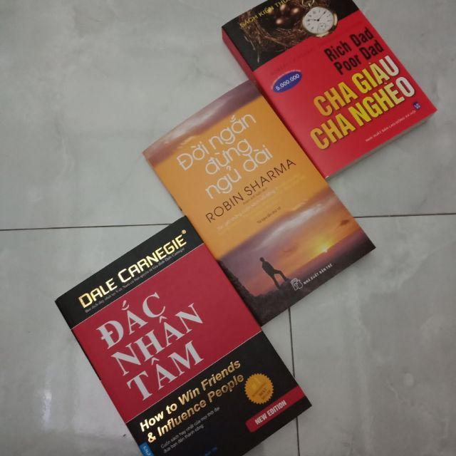 Sách- 3 cuốn đắc nhân tâm, cha giàu cha nghèo, đời ngắn đừng ngủ dài - 3477028 , 1042900355 , 322_1042900355 , 120000 , Sach-3-cuon-dac-nhan-tam-cha-giau-cha-ngheo-doi-ngan-dung-ngu-dai-322_1042900355 , shopee.vn , Sách- 3 cuốn đắc nhân tâm, cha giàu cha nghèo, đời ngắn đừng ngủ dài