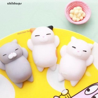 Funny Soft Cat Squishy Squeeze Kid Toy Gift Stress Reliever Phone Decor Gift