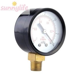 Durable 1pc 2pcs 5pcs 5cm Double scale Steel case Glass Mini Measurement Meter Set Accessories Vacuum pressure gauge