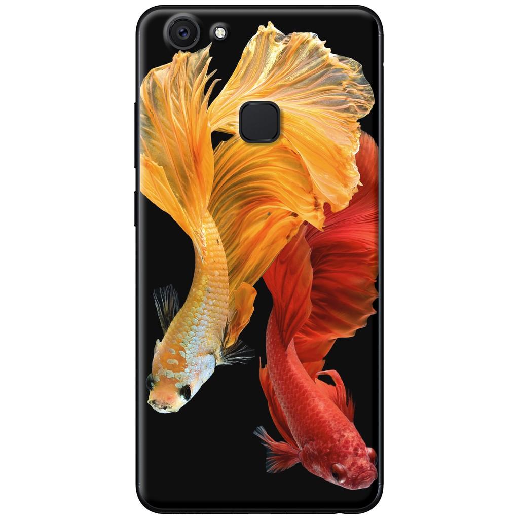 Ốp lưng Vivo V7, V7 Plus - nhựa dẻo Cá betta đỏ vàng