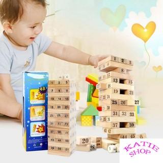 Bộ đồ chơi rút gỗ mini Wiss Toy 54 thanh cho bé