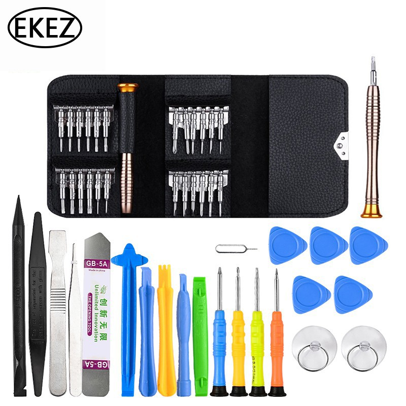 EKEZ Bộ Dụng Cụ Vít Tháo Lắp Sửa Chữa Cầm Tay Cho Điện Thoại Di Động iPhone Macbook PC Máy Tính Xách Tay - INTL