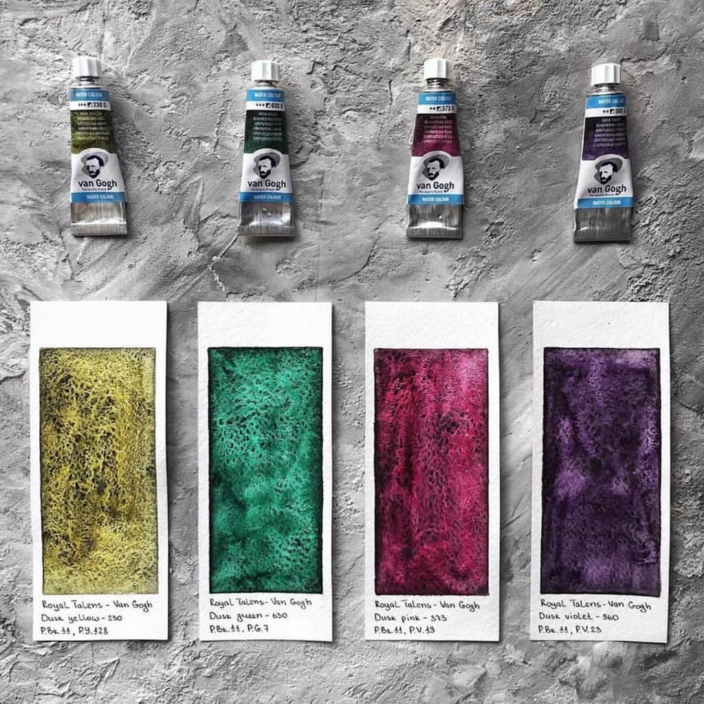 Royal Talens] Set màu nước Van Gogh 4 màu dusk + 12 màu nhũ   Shopee Việt  Nam