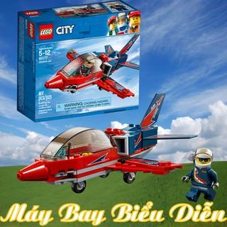 LEGO Máy Bay Biểu Diễn Trên Không – LEGO City 60177 (87 Chi Tiết) Chính Hãng Đan Mạch