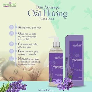 Dầu massage body hoa oải hương ( Lavender) 200ml. Giúp thư giãn, sảng khoái thumbnail