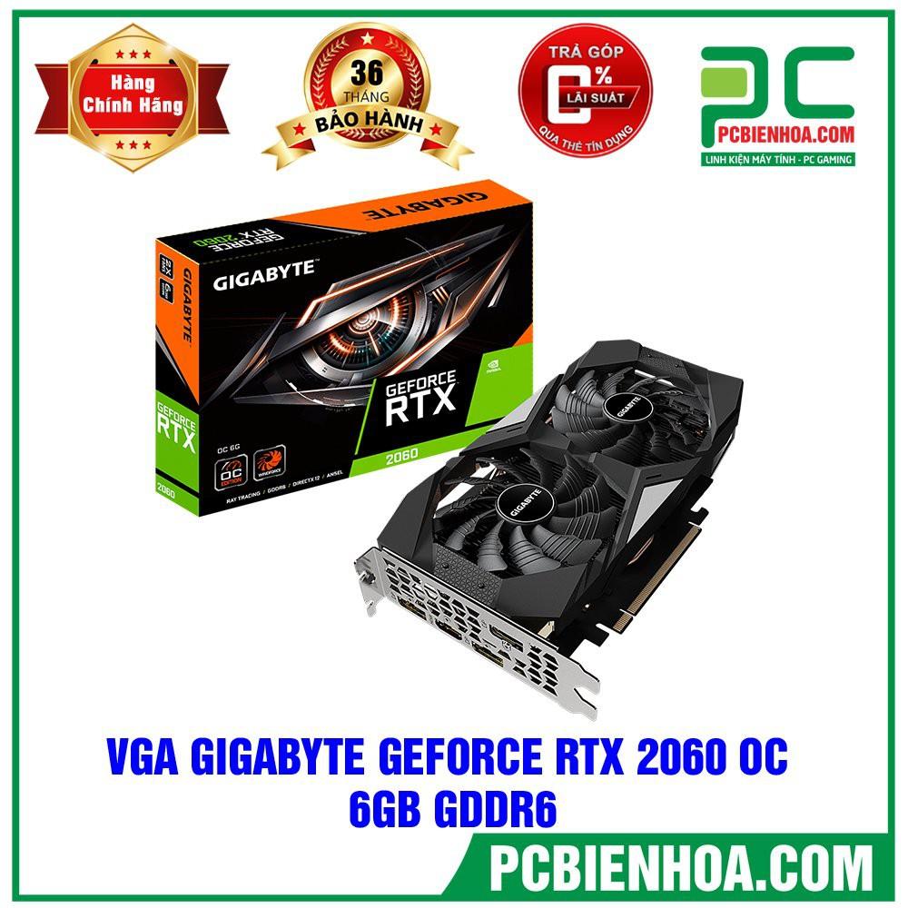 [Mã 267ELSALE1 giảm 5% đơn 3TR] VGA Gigabyte GeForce RTX 2060 6G (GV-N2060D6-6GD)