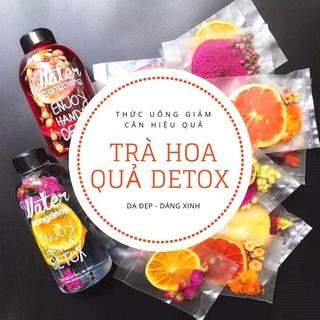 Set 40 gói trà trái cây sấy khô giảm cân, DETOX KOREA (ảnh thật) không kèm bình, hộp, túi vải
