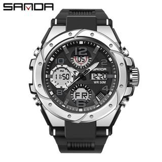 Đồng hồ nam sanda 6018 chính hãng , viền thép xoáy không gỉ , chống nước 50M-Gozid.watches thumbnail