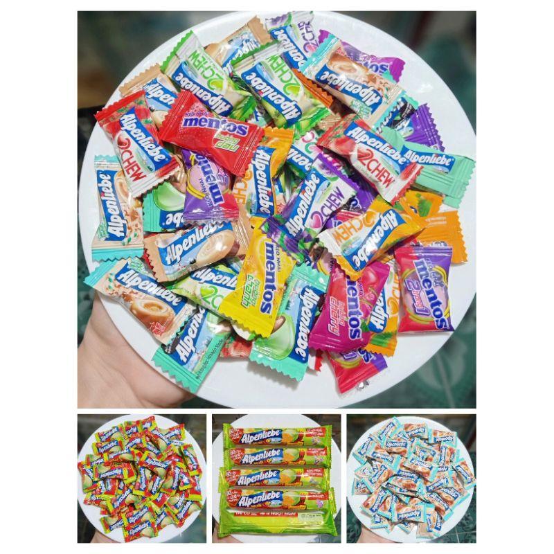 60 viên Kẹo MIX 12 VỊ Alpenliebe hoặc 5 THỎI - 50 VIÊN Kẹo xoài non muối ớt Alpenliebe SIÊU HOT