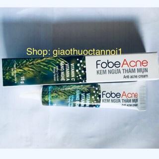 Kem ngừa thâm mụn FobeAcne (vitamin C, vitamin A nano nghệ- giảm mụn, mờ thâm) 15g