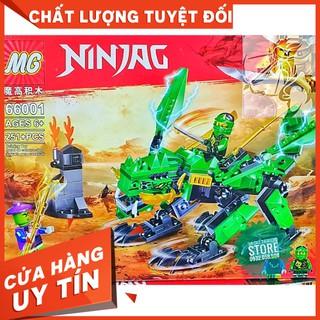 [HOT]Lego MG Lắp Ráp Rồng Bay NinjaG 66001 ( Xanh Lá – 251 Mảnh )-Hàng Có Sẵn