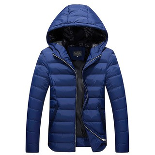 Winter Warm Jacket For Men Hooded Casual Mens Thick Coat Male Slim Outerwear