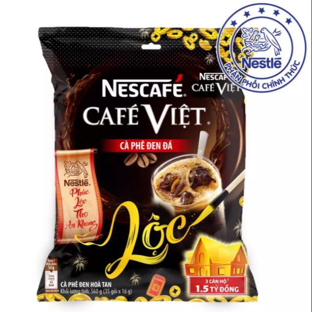 Nescafé Café Việt Cà Phê Đen Đá (Bịch 35 gói x 16g)