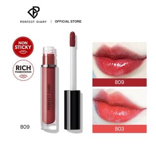 Son Môi Perfect Diary Glossy Glasting Stain Liquid Long-lasting Makeup 8 Shades 2.3g thumbnail
