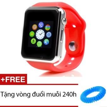 Đồng hồ đeo tay hỗ trợ sim A1 (Đỏ)+ Vòng tay đuổi muỗi