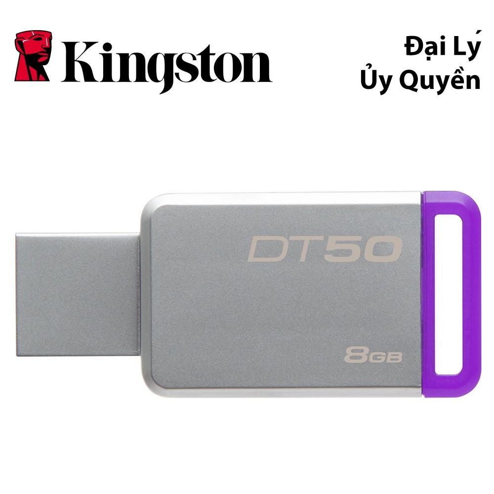 USB Kingston DataTraveler 50 8GB USB 3.1 (DT50/8GBFR) - HÃNG PHÂN PHỐI CHÍNH THỨC