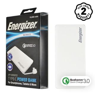 Pin sạc dự phòng Energizer XP10002CQ sạc nhanh Quick Charge 3.0 tích hợp cáp Type C.
