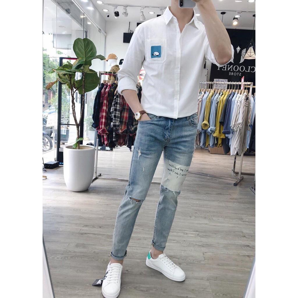 Quần jean nam thời trang hàng QC chuẩn shop H368