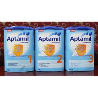 Sữa Aptamil nội địa Đức hộp cao 800gr- Đủ số 1,2.,3 ( Cam kết 100% chính hãng)