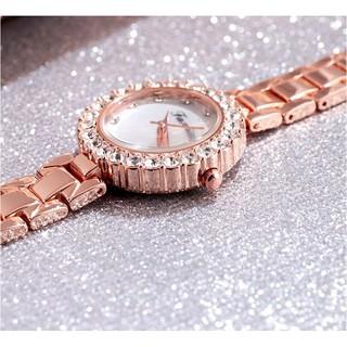 Đồng hồ thời trang nữ Faxina tặng kèm lắc tay xinh xắn Spk34