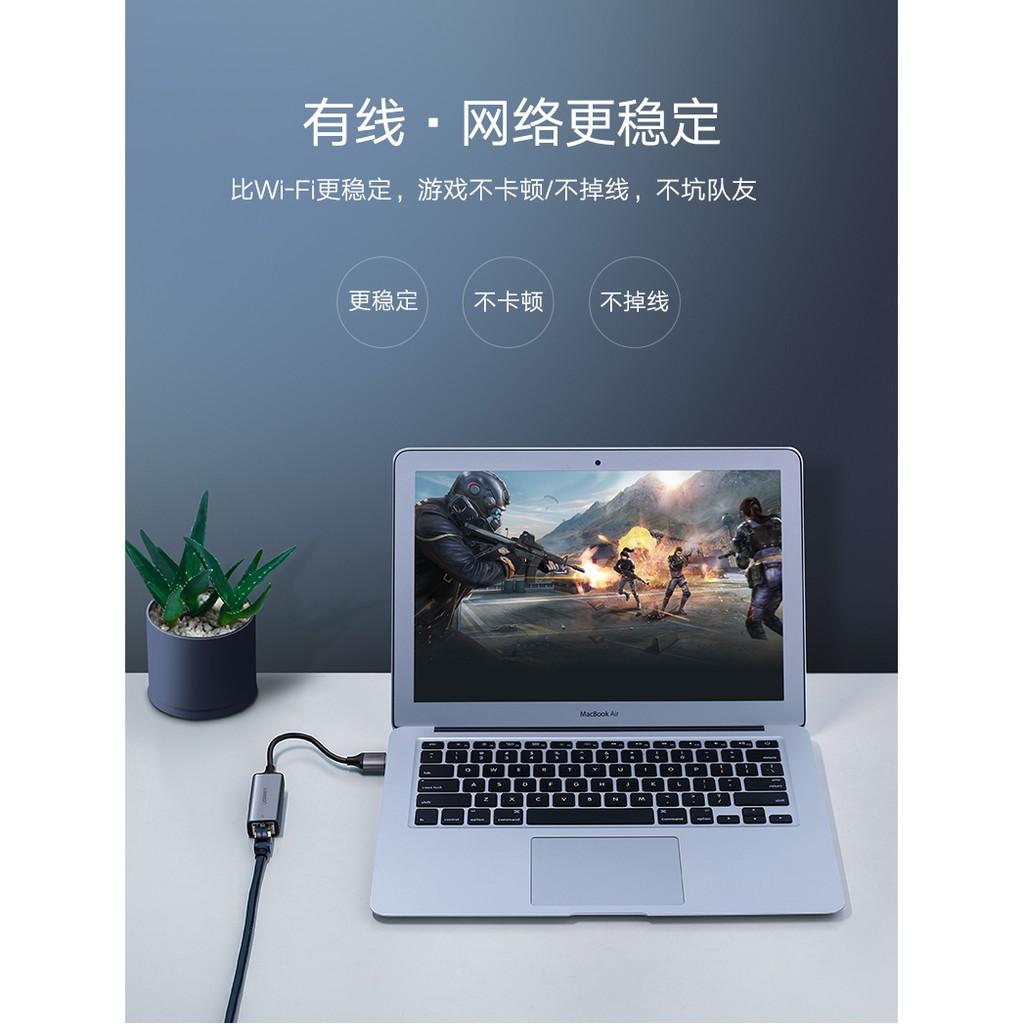 Cáp chuyển USB 3.0 to Lan hỗ trợ 10/100/1000 Mbps Ugreen 50922
