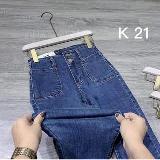 quần jean dài bigsize lưng cao qua rốn vải co giãn 4 chiều mặc siêu tôn dáng