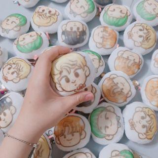 Móc khóa bánh bao NamJin handmade