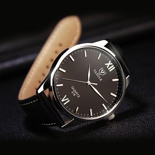 Đồng hồ nam YAZOLE YA030108 doanh nhân 2020 dây da PU cao cấp
