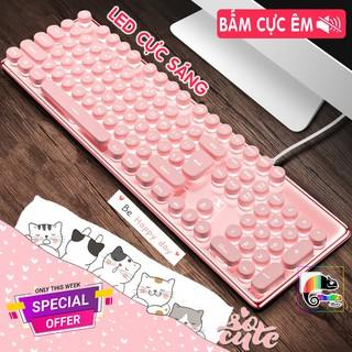 Bàn phím màu Hồng, có Led cực xinh, Keycap tròn cá tính I Pink Gaming Keyboard Hello Kitty thumbnail