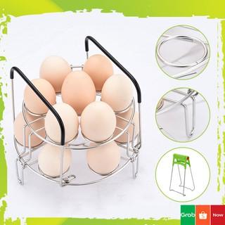 [FREESHIP] Vỉ Hấp Inox 304 Đa Năng Hấp Trứng Gà Trứng Vịt 2 Tầng Và Kẹp Chống Nhiệt Phụ Kiện Gia Dụng
