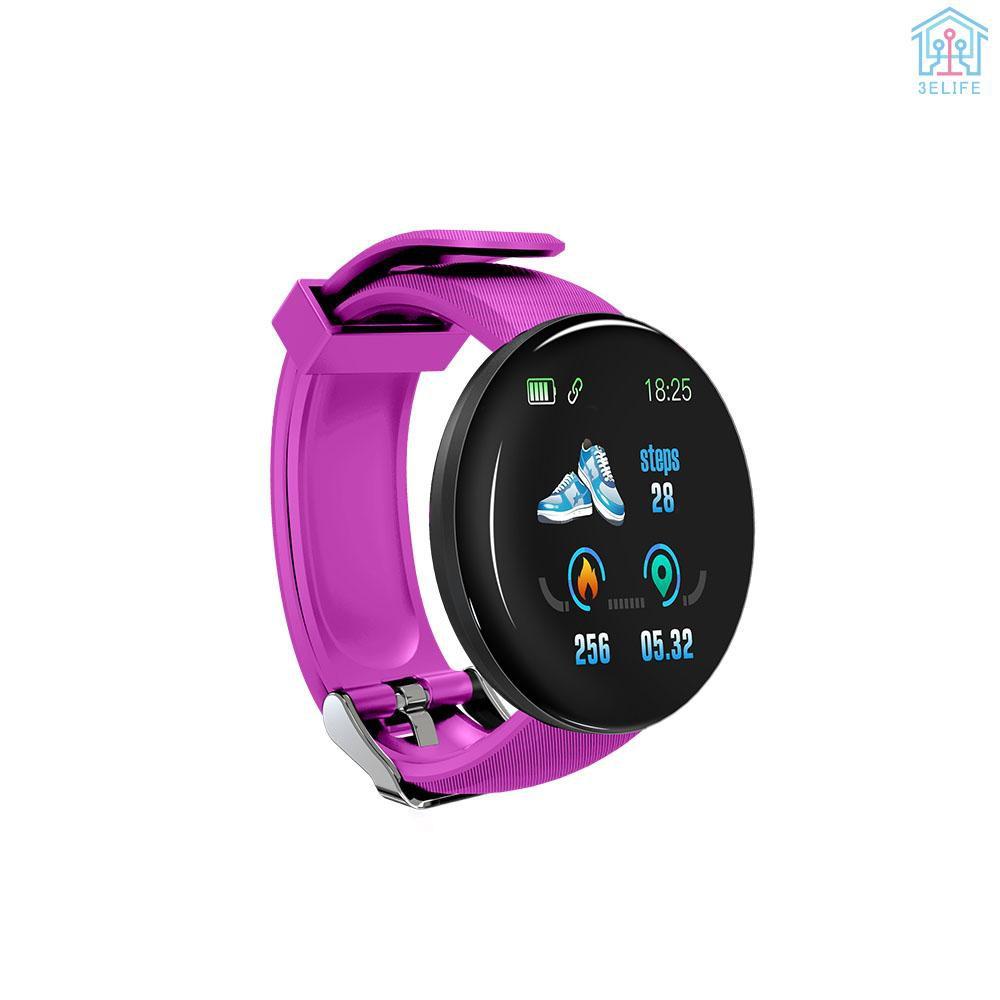 【E&V】D18 Smart Watch 1.3 inch TFT Screen IP65 Waterproof Bracelet Sport Wristband Heart Rate Sleep Monitor Blood Pressure Men Women Fitness Tracker