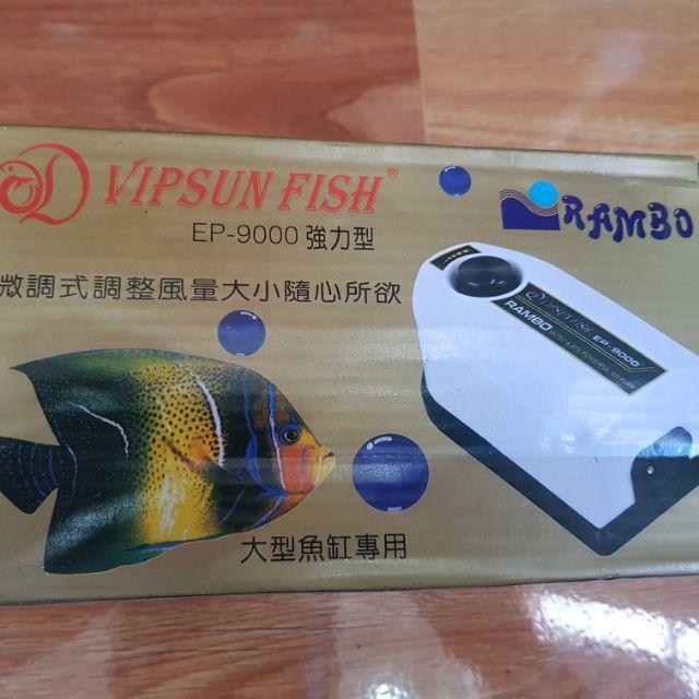 Oxy cho hồ cá siêu êm không ồn Rambo tặng kèm dây và cục thổi oxy.