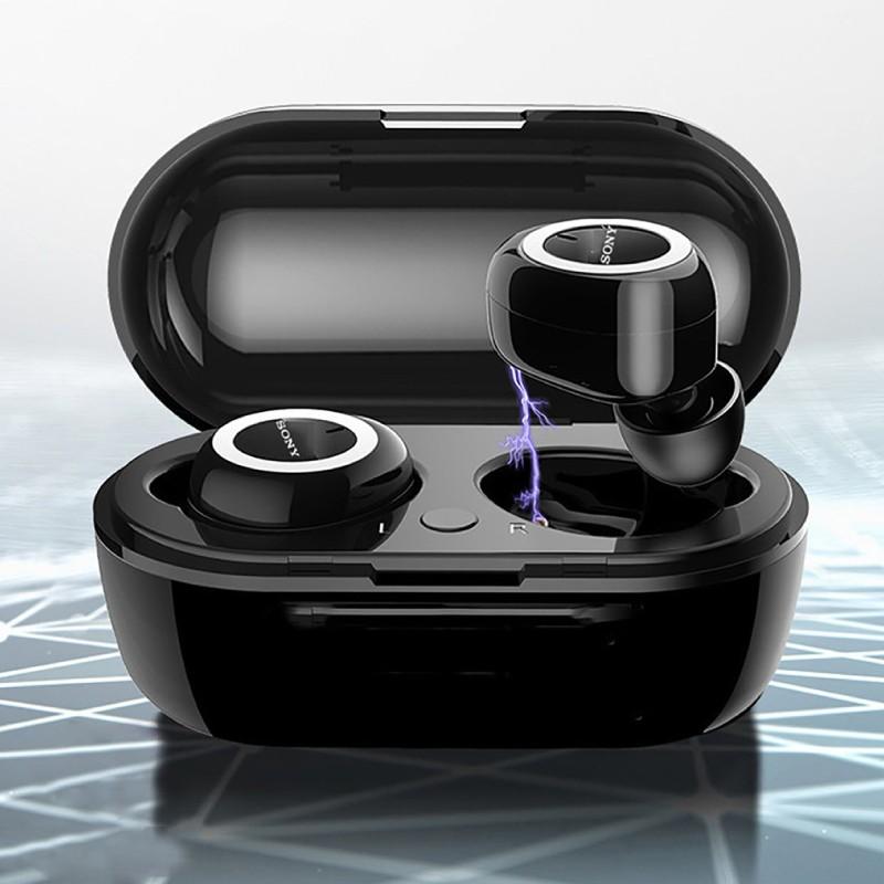 Tai nghe bluetooth Sony Sports TWS-D76 chống ồn tiêu chuẩn CV6, tai nghe không dây kèm cáp sạc USB, bảo hành 3 tháng