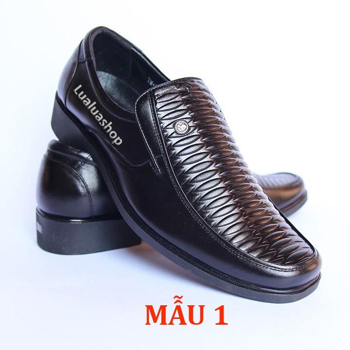 Giày tây nam da thật mũi bằng đế gót S33 dành cho người trẻ , trung tuổi và cao tuổi. Bảo hành 12 tháng