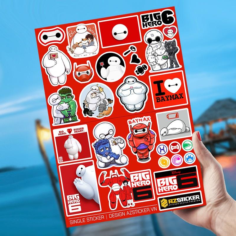 [Singer Sticker] Hình Big Hero | Sticker Dán Xe, Tem Dán Xe Máy, Xe Điện Chống Thấm Nước, Chống Bay Màu
