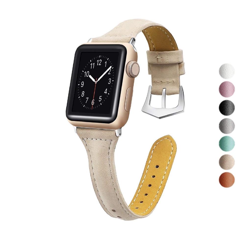 Dây đeo bằng da thật cho đồng hồ thông minh Apple Watch 1 / 2 / 3 / 4 ( 38 / 40 / 42 / 44mm )