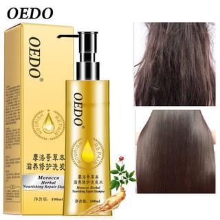 Dầu gội thảo mộc morocco OEDO với chiết xuất nhân sâm giúp phục hồi tóc khô và hư tổn Cải thiện tình trạng khô tóc Khóa nước mềm mượt