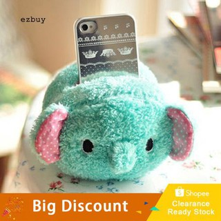 ☛Ready stock☚Cute Elephant Plush Phone Holder Cell Phone Seat Toys Desk Display Table Decor