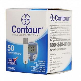 Que thử đường huyết Contour hộp 50 que date xa