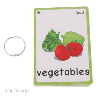 35Pcs Kids English Sight/Picture Word Flash Cards About Food