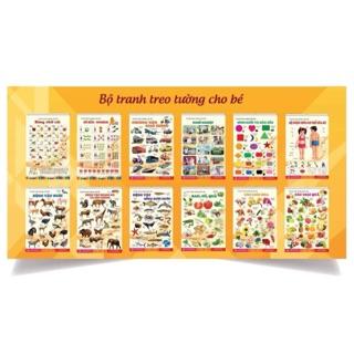 Tranh treo tường cho bé 14 chủ đề động vật, số, chữ cái, hoa quả, nghề nghiệp, hình khối màu sắc, phương tiện giao thông