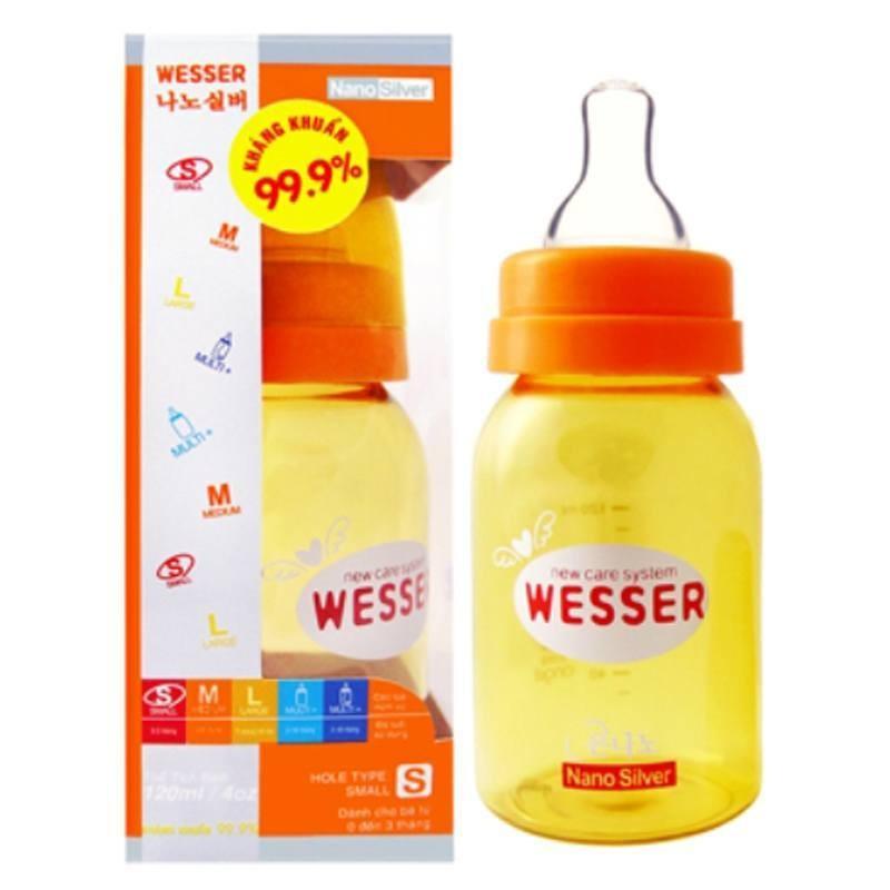 Bình sữa Wesser Nano Silver 140ml BS073