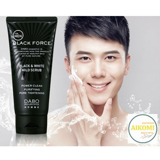 Sữa rửa mặt Nam trắng da sạch mụn Dabo Black Force Hàn Quốc 120ml - Hàng Chính Hãng thumbnail
