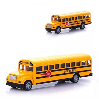 1:16 Big School Bus Alloy Metal Toys Car Kid Education Toys 21.5*6*5cm Pull Back Vehicles Toys