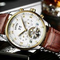 Đồng hồ cơ nam dây da chính hãng Kinyued LS56